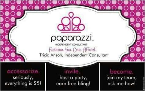 35 Best Images About Paparazzi Party Ideas On Pinterest Paparazzi Business Card Template