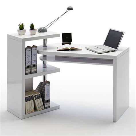 High Work Desk by Black White Office Furniture Range 1600mm Curved Desk