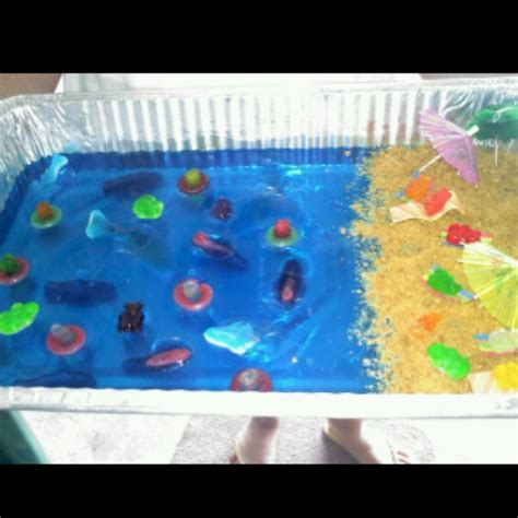 birthday themed jello shots jello shot beach cake a vodka infused paradise i made for
