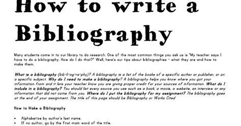 how to write a bibliography page for a research paper miss smith s montessori 9 12 class how to write a
