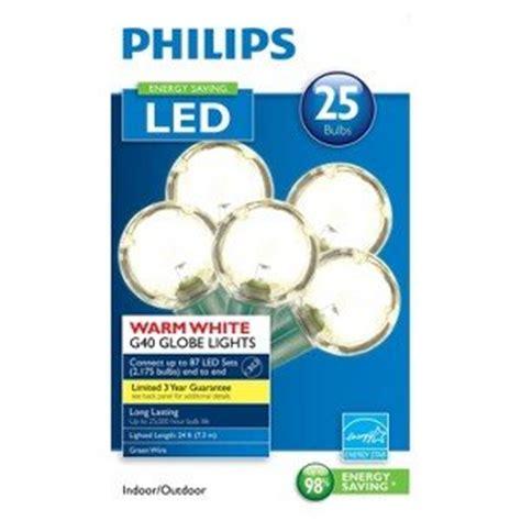 philips globe string lights philips 25ct warm white led smooth g40 globe string lights