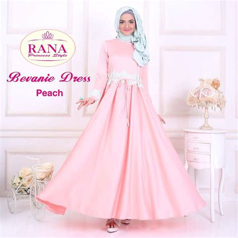 Princess Dress Brokat bevanie dress muslim by rana princess jual