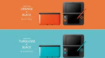 new 3ds colors japan s new 3ds xl colors turquoise black orange black