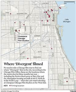 The Sun Picture Desk Map Divergent Filming Sites In Chicago Chicago Tribune