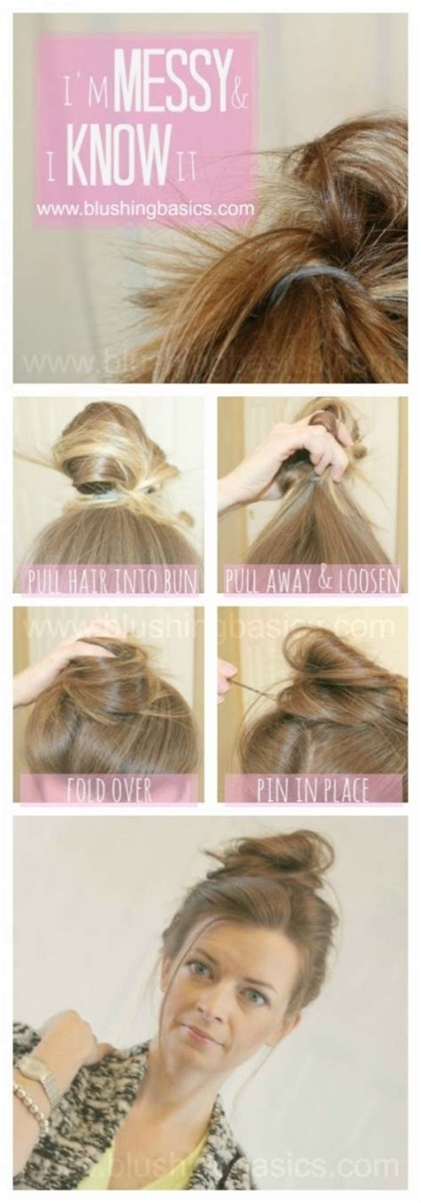pennies messy bun tutorial messy bun step by step instructions previous image step