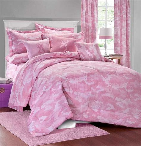 buckmark camo pink comforter sham set lodge bedding