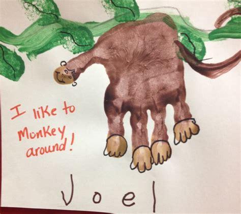 new year monkey handprint monkey handprint preschool crafts