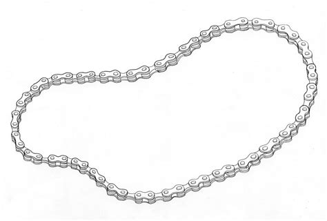 Bike Chain Outline by Bike Chain Drawing Www Pixshark Images Galleries With A Bite