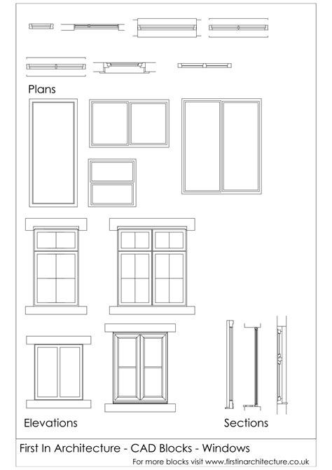 symbol for window in floor plan fia cad blocks windows architecture pinterest window