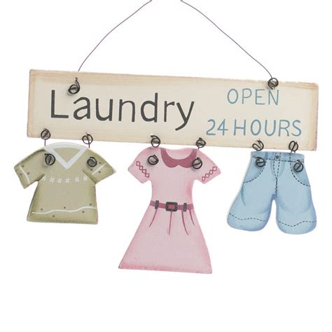 Laundry Mat 24 Hours by Quot Laundry Open 24 Hours Quot Wood Ornament Sign Signs