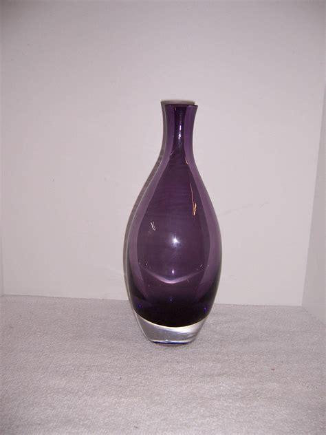 Purple Glass Vase by A Resale Tarnow Purple Glass Vase Poland