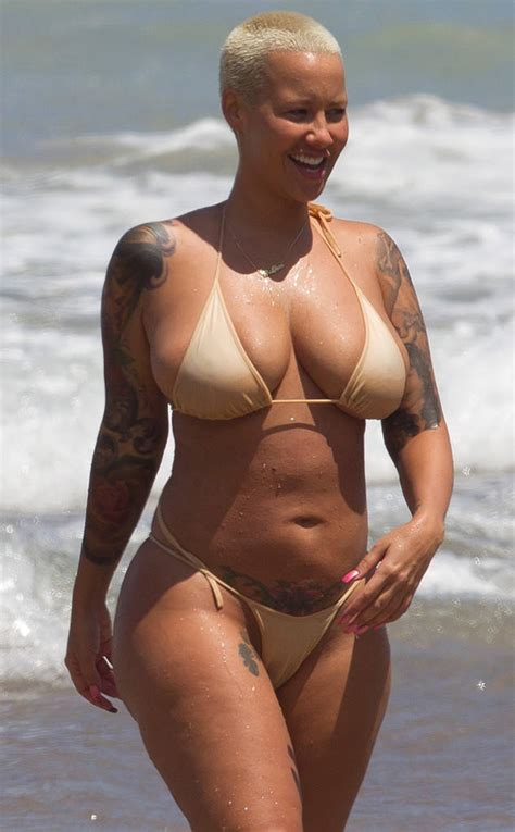 nsfw amber rose goes topless in barbados shows off her amber rose proud of her booty dimples see the nsfw g
