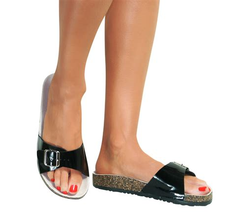 womens slip on sandals mules summer flip