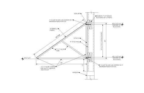 awning construction details connection details by wall type architectural fabrication