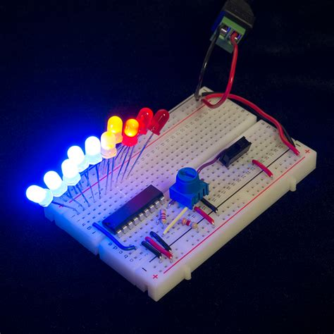 breadboard circuit dot bar display driver hookup guide learn sparkfun