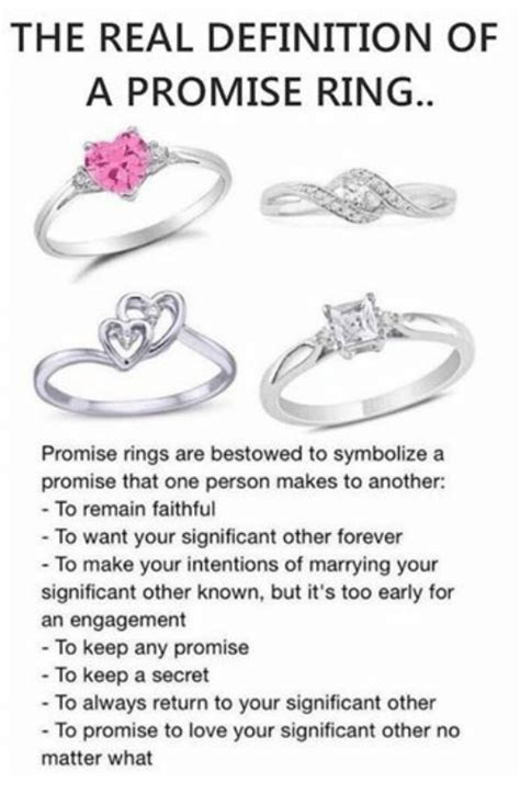 the real definition of a promise ring promise rings are