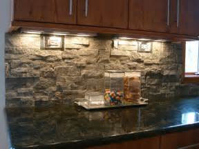 Stone Kitchen Backsplash Stacked Stone Backsplash Contemporary Kitchen