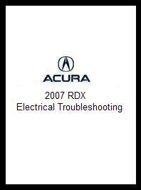 car repair manual download 2007 acura rdx lane departure warning 2007 acura rdx electrical troubleshooting manual