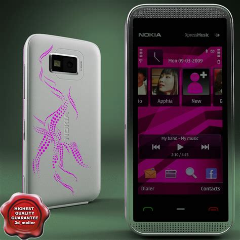 Lcd Nokia 5530 Original nokia 5530 pink by 3d molier collection of 3d models by 3d molier