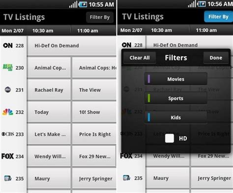 xfinity tv app android xfinity tv app from comcast hits the android market