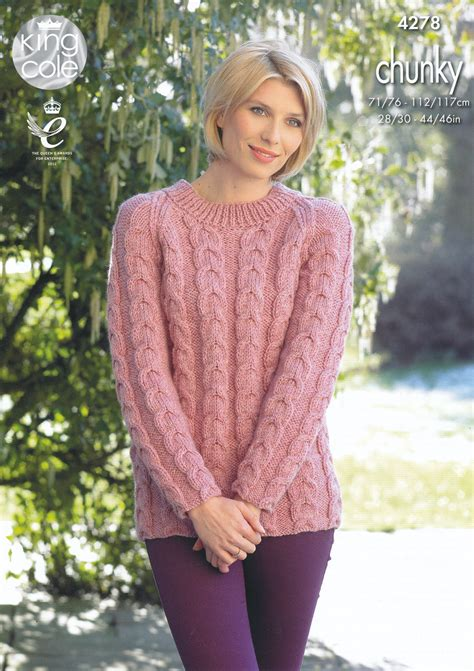 cable knitting patterns sweater king cole womens chunky knitting pattern cable knit