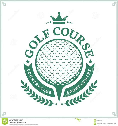 Golf Country Club Logo Template Stock Vector Image 62354101 Nightclub Logo Template