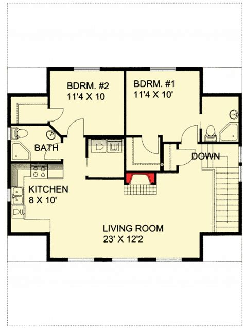 rental house plans guest quarters or rental income 35445gh 2nd floor master suite cad available carriage