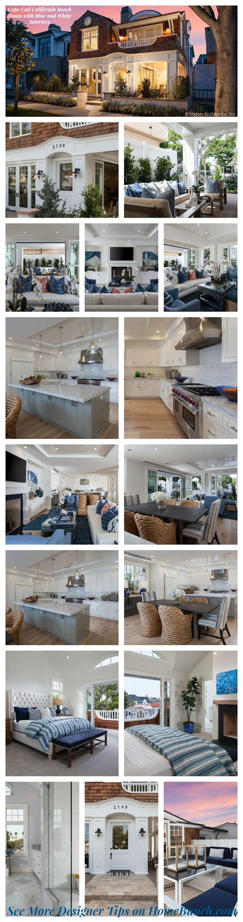 Cape Cod California House With Blue And White cape cod california house home bunch interior