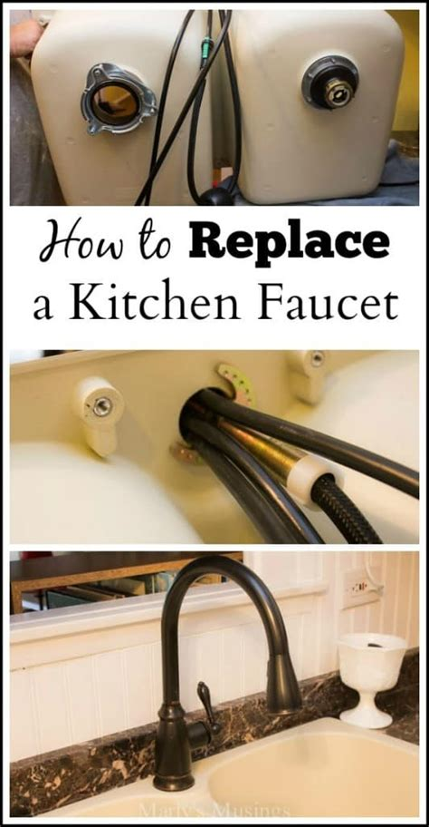 how to install a kitchen sink faucet how to replace a kitchen faucet