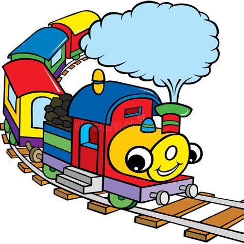 treno clipart treno felice per i bambini illustrazione vettoriale