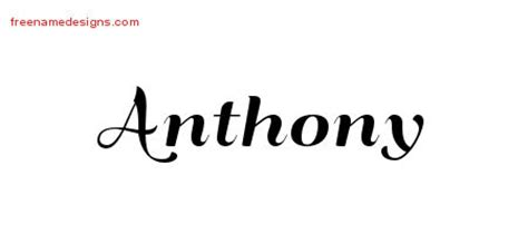 anthony archives free name designs