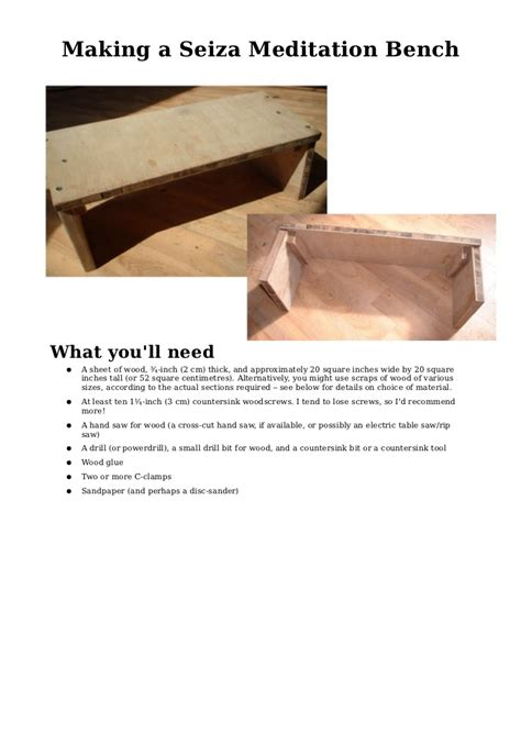 how to make a meditation bench making a seiza meditation bench
