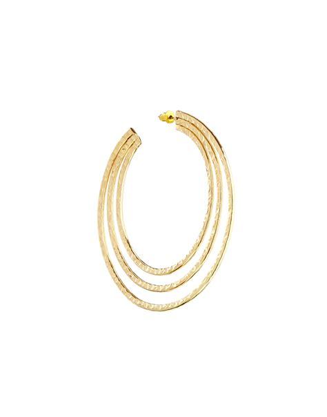 Asos Hoop Earring In Gold by Asos Hoop Earrings In Gold Lyst