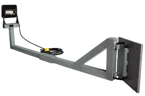 swing arm work light larson electronics releases a 60 watt led work area dock