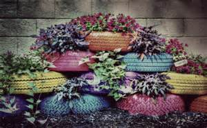 on sale tire planter photograph painted by americanaartbyellis