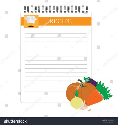 recipe note card template recipe card kitchen note blank template vector