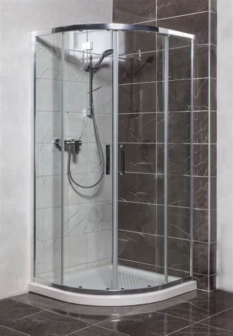 bathroom universal chrome transparent glass shower stall