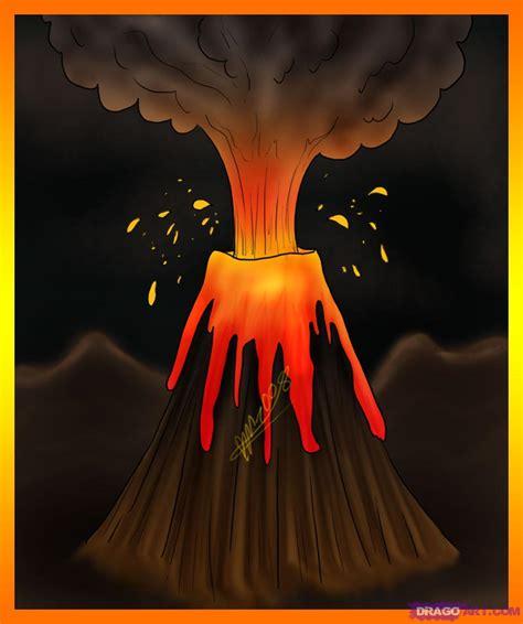 volcano cartoon drawing