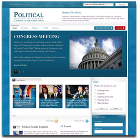 political template joomla government or political theme site