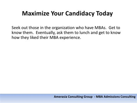 Amerasia Mba by Applying To B School In A Few Years