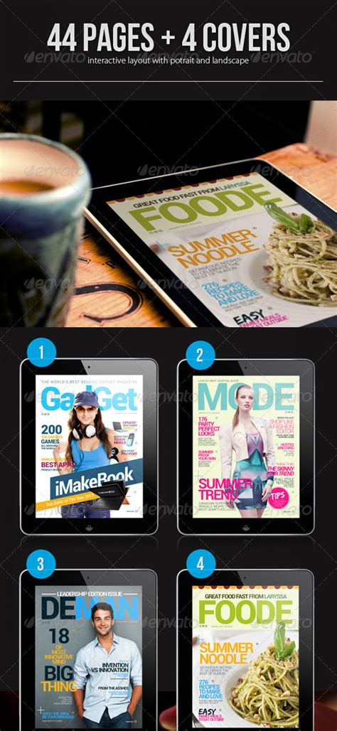 20 Beautiful Digital Magazine Templates Designmaz Interactive Magazine Template