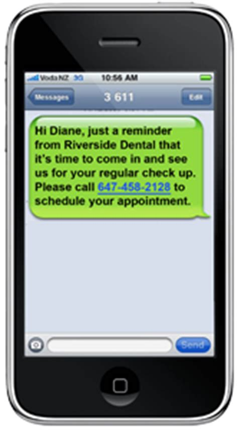 Custom Recall Dental Office Phone Message Template