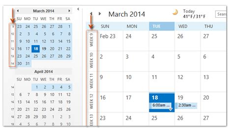 Calendar Which Shows Week Numbers How To Show The Week Numbers In Calendar In Outlook