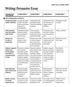 Persuasive Essay Writing Rubric by Persuasive Essay Template 7 Free Sle Exle Format Free Premium Templates