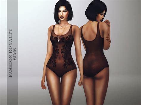 Dark Lace Bodysuit at Fashion Royalty Sims » Sims 4 Updates