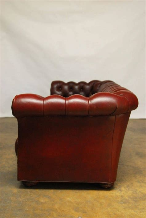 Classic Tufted Leather Chesterfield Sofa At 1stdibs Tufted Leather Chesterfield Sofa