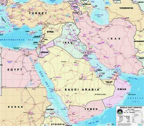 middle east map landforms geography of the middle east