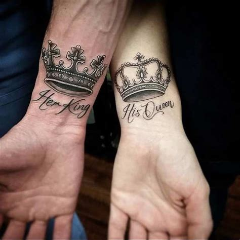 couples king and queen tattoos 61 tattoos that will warm your
