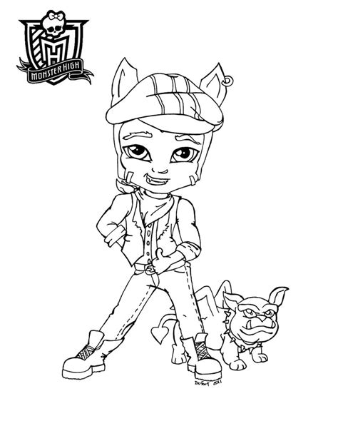 monster high clawd coloring pages all about monster high dolls baby monster high character