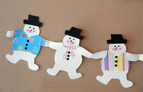 How To Make A Snowman Paper Chain -